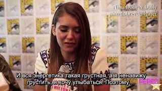 Иэн Сомерхолдер, Nina Dobrev, Paul Wesley & Ian Somerhalder Dish Season 6 Details At Comic Con! (rus sub)