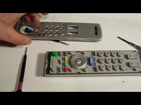 How to repair or fix Sony TV remote control button issue