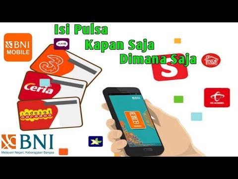 Cara Isi Pulsa Melalui BNI Mobile Banking