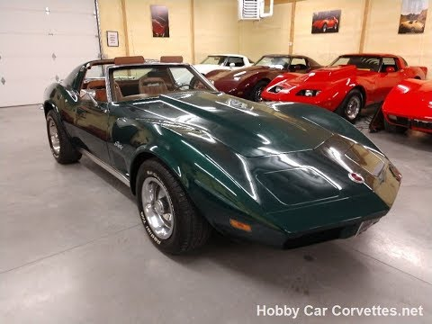 1973 Blue Green Corvette Stingray For Sale Video