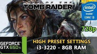 Rise of the Tomb Raider - GTX 650 Ti - i3-3220 - 8GB RAM - 720p [High Preset Settings + PUREHAIR]
