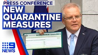 Coronavirus: PM announces new quarantine measures | Nine News Australia