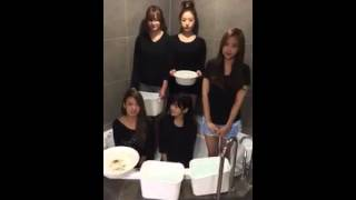 A pink members in Ice Bucket Challenge