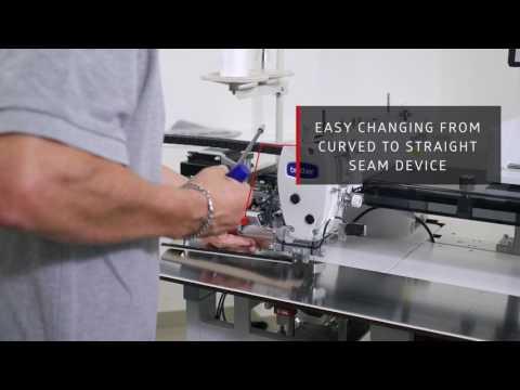Швейный автомат для обработки прямых и изогнутых боковых карманов брюк и юбок BASS 5100 ASS video