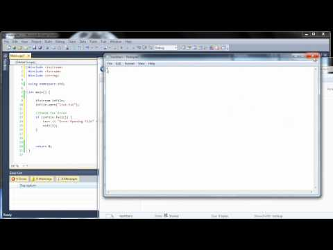 C++ Tutorial 29 – Reading and Writing to Files – fstream