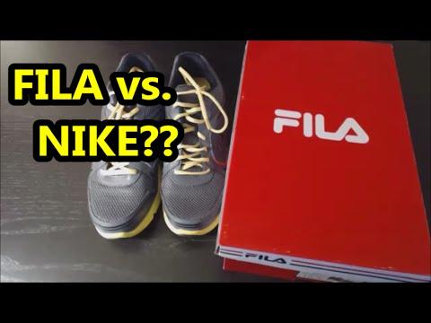 Running shoes – FILA vs NIKE?