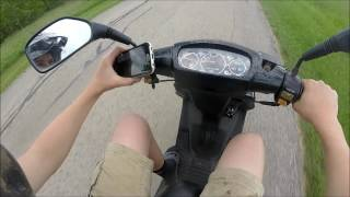 Chinese Moped Top Speed Test!!!