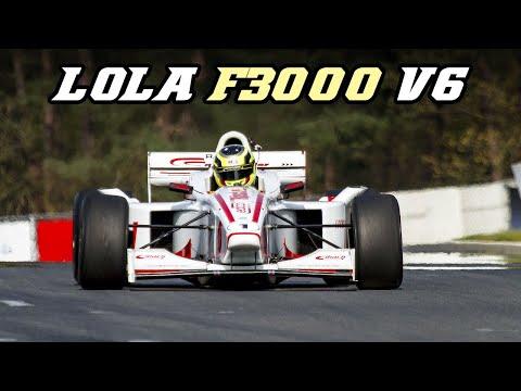 LOLA F3000 B99-50 - INSANE loud V6 sound (Zolder 2018)