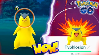 FIRST EVER WILD TYPHLOSION FOUND IN POKEMON GO! FILLING UP OUR GEN 2 POKEDEX + NEW GEN 2 TIPS!