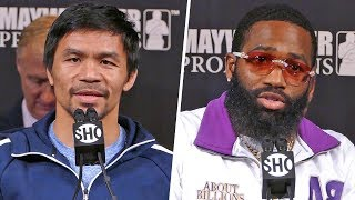Manny Pacquiao vs. Adrien Broner FINAL PRESS CONFERENCE | ShowTime Boxing