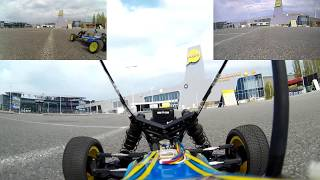 FPV RC Car Parking Exploration and Racing with FPV Overlay