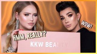 KIM KARDASHIAN: KKW Concealer Kits REVIEW ft. JAMES CHARLES!