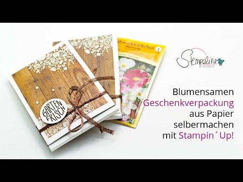 🌸 Blumensamen Geschenkverpackung aus Papier selber machen mit Stampin Up