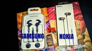 SAMSUNG EG920 EARPHONE VS NOKIA WH-301 EARPHONE COMPARISON VIDEO & SOUND COMPARISON