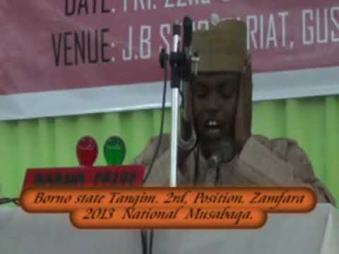 2013 Nigerian Qur'an Competition: Borno Tangeem. Male Participant