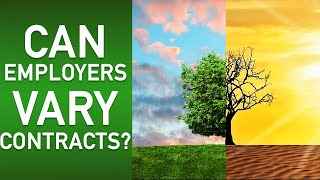 Can employers vary contracts?