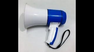 Рупор ручной мегафон переносной HM-130U USB MP3, сирена, запись на 3 минуты от компании ТехМагнит - видео