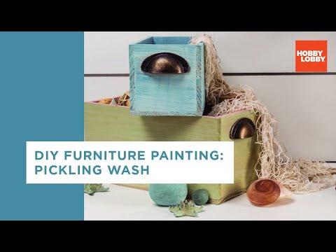 DIY Furniture Painting: Pickling Wash