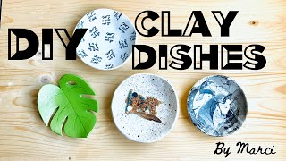 DIY Clay Tray/dish  Easy Tutorial. Air Dry Clay Jewelry Tray.