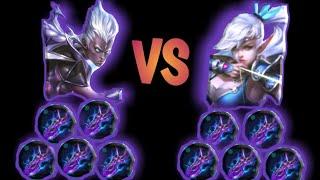 Karrie 250% attack speed vs Miya 250% attack speed - Mobile legends