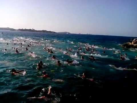 0 Swimming across the channel Paros Antiparos 2013
