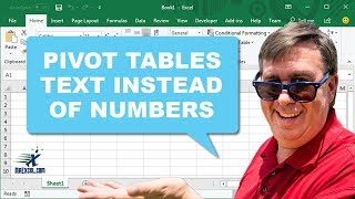 Learn Excel - Text Instead of Numbers in Pivot Table - Podcast 2223