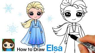 How To Draw Elsa   Disney Frozen 2