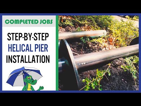 Completed Job by Dry Guys | What are Helical Piers? How are they installed? When should they be used? Follow our foundation specialists from Dry Guys Basement Systems as they do a small helical pier installation in a home where the chimney is cracked and needs to be lifted. You'll get tips about helical piers in this quick, step-by-step guide.