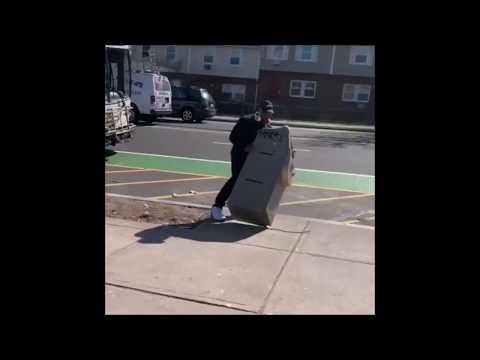 Crackhead tries to take an ATM home