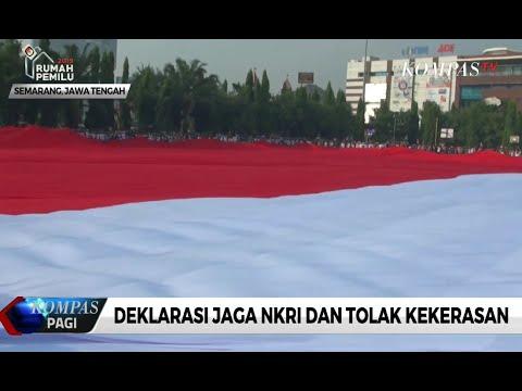 Warga Jawa Tengah Deklarasi Jaga NKRI dan Tolak Kekerasan