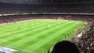 preview picture of video 'Camp Nou atmosphere & Cant del Barca. FC Barcelona - Real Madrid 26/2/2013'