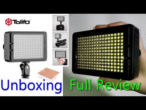 Tolifo PT-204S Portable LED Video Light (wall adapter/battery powered) Full Review and Test