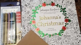 JOHANNA'S CHRISTMAS COLORING BOOK REVIEW and FlICK THROUGH