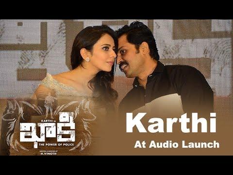Karthi At Khakee Movie Audio Launch Event