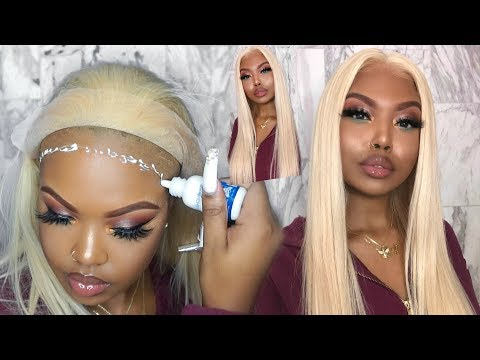 HOW TO INSTALL A PLATINUM BLONDE LACE WIG ON WOC - YOOWIGS