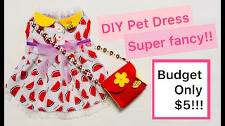 DIY Dog Clothes|Your Baby Girl Deserves It ! No Paper Pattern Hell, We Prepare EVERYTHING For You!03