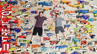 Saying Goodbye to the Old Nerf Arsenal. Ethan and Cole Remember Nerf Blasters.