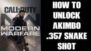 COD Modern Warfare & WARZONE How To Unlock Akimbo .357 Snake Shot Dual Wield Pistol Revolver Guide