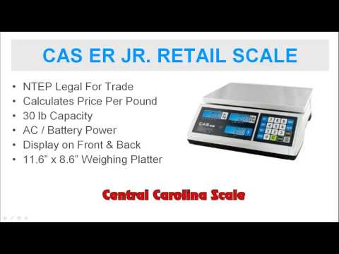 CAS ER Jr Retail Price Computing Scale Is Legal For Trade