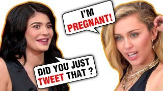 Miley Cyrus PREGNANT, REACTS On Twitter With Egg Meme That Kylie Jenner Lost To!