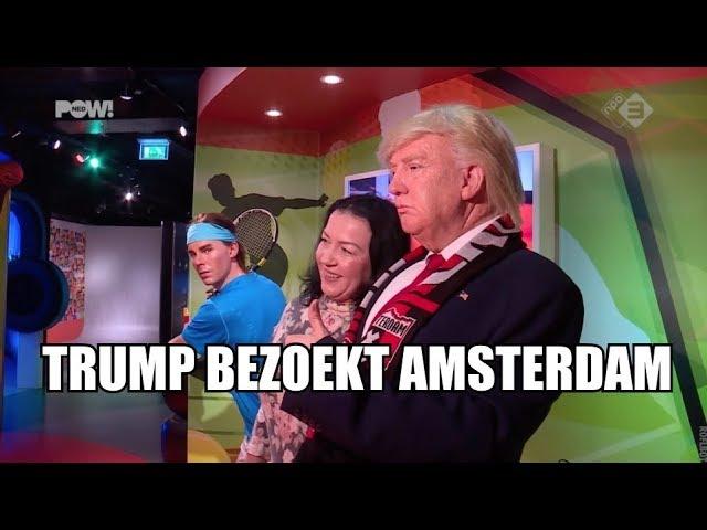 Trump bezoekt Amsterdam