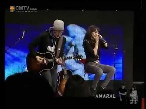 Amaral video Hoy es el principio del final - Acústico - 10-06-2013