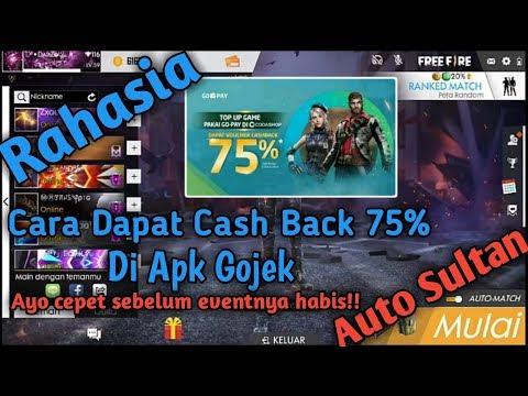 Cara Dapetin Cashback 75% Gojek atau Gopay - TOP UP DIAMOD MURAH FREE FIRE