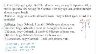 [2001.10.8.] 6) Szöveges logikai feladat, biztos/lehet/lehetetlen