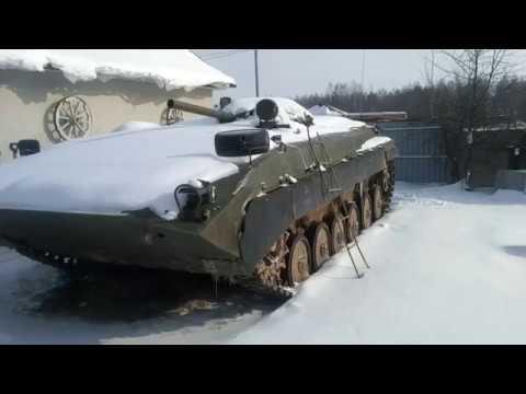 запуск  двигателя бмп зимой, часть 1