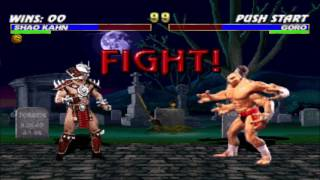 Shao Kahn vs Goro Double Flawless HD