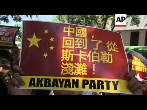 Protest outside Chinese Embassy to demand China removes ships from disputed area