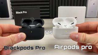 Blackpods Pro Vs Airpods Pro - Matte black Airpods Pro