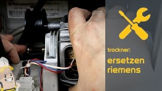 Ersetzen des Riemens Ihres Trockners | Das Ersatzteilecenter.de Verfahren