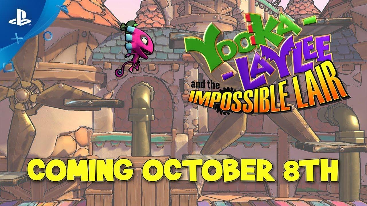 Yooka-Laylee and the Impossible Lair se Lanza el 8 de octubre en PS4